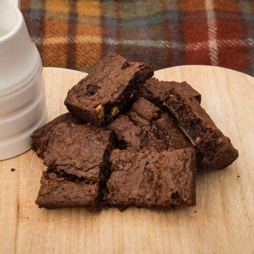 Cardamom and Pistachio Brownie